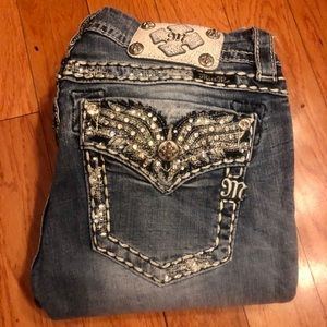 Miss Me Butterfly Slim Bootcut Jeans